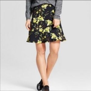Who What Wear Mini Flare Floral Skirt